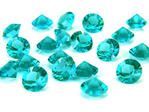 1088 UNFOILED Round Pointed Back Crystals, Blue Zircon